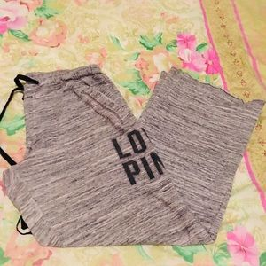 Grey Victoria's Secret sweat pants with pockets
